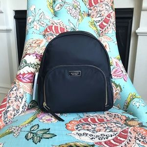 kate spade Black Dawn Medium Nylon Backpack